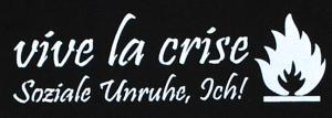 Detailansicht Kapuzen-Pullover: Vive la crise