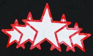 Detailansicht Girlie-Shirt: White Stars