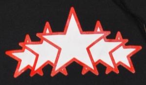 Detailansicht Kapuzen-Pullover: White Stars