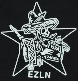Detailansicht Girlie-Shirt: Zapatistas Stern EZLN