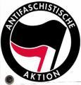 """Zum Aufkleber """"Antifaschistische Aktion (schwarz/rot, 21cmx21cm)"""" für 2,80 € gehen."""