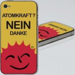 """Zum iPhone 4 - Aufkleber """"Atomkraft? Nein Danke"""" für 4,87 € gehen."""