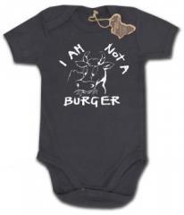 "Zum Babybody ""I am not a burger"" für 9,90 € gehen."