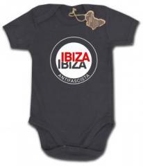 """Zum Babybody """"Ibiza Ibiza Antifascista (Schrift)"""" für 9,65 € gehen."""