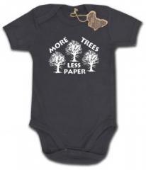 """Zum Babybody """"More Trees - Less Paper"""" für 9,90 € gehen."""