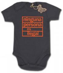 """Zum Babybody """"ninguna persona es ilegal"""" für 9,65 € gehen."""