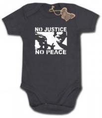 """Zum Babybody """"No Justice - No Peace"""" für 9,90 € gehen."""