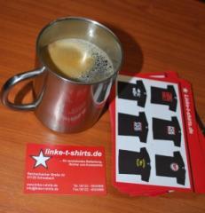 """Zum/zur  Sonstiges """"eine Tasse Kaffee"""" für 0,00 € gehen."""