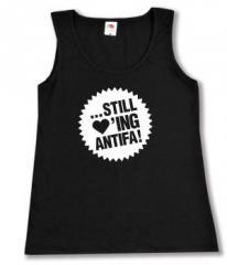 """Zum Woman Tanktop """"... still loving antifa"""" für 12,00 € gehen."""
