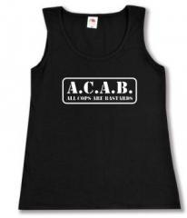 """Zum tailliertes Tanktop """"A.C.A.B. - All cops are bastards"""" für 11,70 € gehen."""