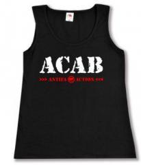 """Zum tailliertes Tanktop """"ACAB Antifa Action"""" für 12,00 € gehen."""