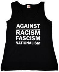 """Zum tailliertes Tanktop """"Against Racism, Fascism, Nationalism"""" für 12,00 € gehen."""