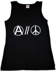 """Zum tailliertes Tanktop """"Anarchy and Peace"""" für 12,00 € gehen."""