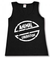 """Zum tailliertes Tanktop """"Animal Liberation"""" für 11,70 € gehen."""