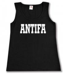 """Zum tailliertes Tanktop """"Antifa Schriftzug"""" für 11,70 € gehen."""