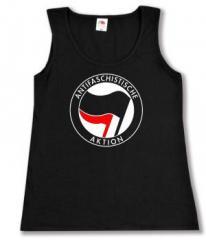 """Zum tailliertes Tanktop """"Antifaschistische Aktion (schwarz/rot)"""" für 11,70 € gehen."""