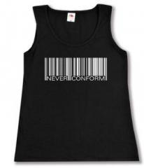 """Zum Woman Tanktop """"Barcode - Never conform"""" für 12,00 € gehen."""