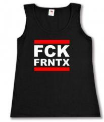"""Zum tailliertes Tanktop """"FCK FRNTX"""" für 11,70 € gehen."""