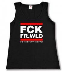 """Zum tailliertes Tanktop """"FCK FR.WLD"""" für 11,70 € gehen."""