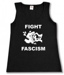 """Zum tailliertes Tanktop """"Fight Fascism"""" für 11,70 € gehen."""