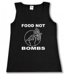 """Zum tailliertes Tanktop """"Food Not Bombs"""" für 11,70 € gehen."""