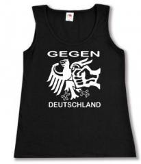 """Zum tailliertes Tanktop """"Gegen Deutschland"""" für 11,70 € gehen."""