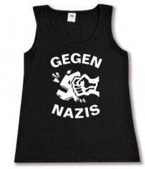 """Zum tailliertes Tanktop """"Gegen Nazis"""" für 11,70 € gehen."""