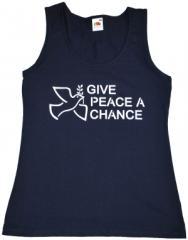 """Zum tailliertes Tanktop """"Give Peace A Chance"""" für 12,00 € gehen."""