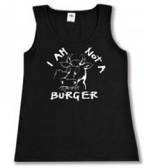 """Zum tailliertes Tanktop """"I am not a burger"""" für 11,70 € gehen."""