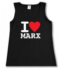 """Zum tailliertes Tanktop """"I love Marx"""" für 12,00 € gehen."""