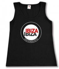 """Zum tailliertes Tanktop """"Ibiza Ibiza Antifascista (Schrift)"""" für 11,70 € gehen."""