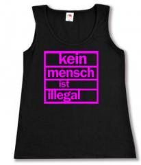 """Zum tailliertes Tanktop """"Kein Mensch ist illegal (pink)"""" für 11,70 € gehen."""