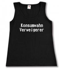 """Zum Woman Tanktop """"Konsumwahn Verweigerer"""" für 12,00 € gehen."""