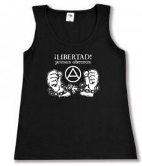 """Zum tailliertes Tanktop """"Libertad presos obreros!"""" für 11,70 € gehen."""