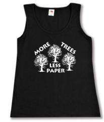 "Zum Woman Tanktop ""More Trees - Less Paper"" für 12,00 € gehen."