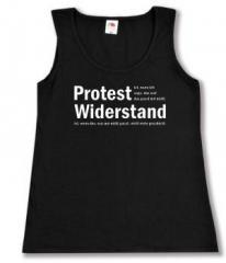 """Zum Woman Tanktop """"Protest ist, wenn ich sage, das und das passt mir nicht. Widerstand ist, wenn das, was mir nicht passt, nicht mehr geschieht."""" für 12,00 € gehen."""