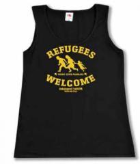 """Zum Woman Tanktop """"Refugees welcome Linksjugend"""" für 15,00 € gehen."""