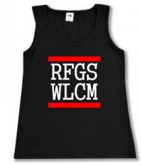 """Zum Woman Tanktop """"RFGS WLCM"""" für 12,00 € gehen."""