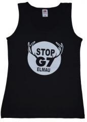 """Zum tailliertes Tanktop """"Stop G7 Elmau"""" für 11,70 € gehen."""