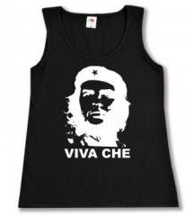 """Zum tailliertes Tanktop """"Viva Che Guevara (weiß/schwarz)"""" für 12,00 € gehen."""