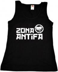 """Zum tailliertes Tanktop """"Zona Antifa"""" für 11,70 € gehen."""