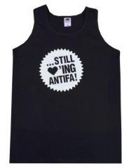 """Zum Man Tanktop """"... still loving antifa"""" für 12,00 € gehen."""