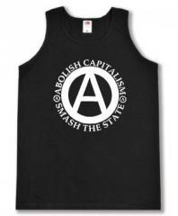 """Zum Tanktop """"Abolish Capitalism - Smash The State"""" für 11,70 € gehen."""