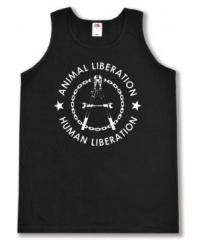 """Zum Tanktop """"Animal Liberation - Human Liberation (Zange)"""" für 12,00 € gehen."""