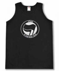 """Zum Man Tanktop """"Antifaschistische Aktion - hebräisch (schwarz/schwarz)"""" für 12,00 € gehen."""