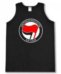 """Zum Man Tanktop """"Antifaschistische Aktion (rot/schwarz)"""" für 12,00 € gehen."""