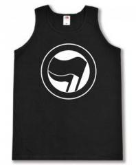 """Zum Man Tanktop """"Antifaschistische Aktion (schwarz/schwarz) ohne Schrift"""" für 12,00 € gehen."""