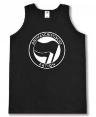 """Zum Man Tanktop """"Antifaschistische Aktion (schwarz/schwarz)"""" für 12,00 € gehen."""