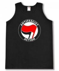 """Zum Tanktop """"Antifascist Action (rot/schwarz)"""" für 12,00 € gehen."""