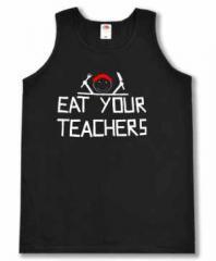 """Zum Man Tanktop """"Eat your teachers"""" für 15,00 € gehen."""